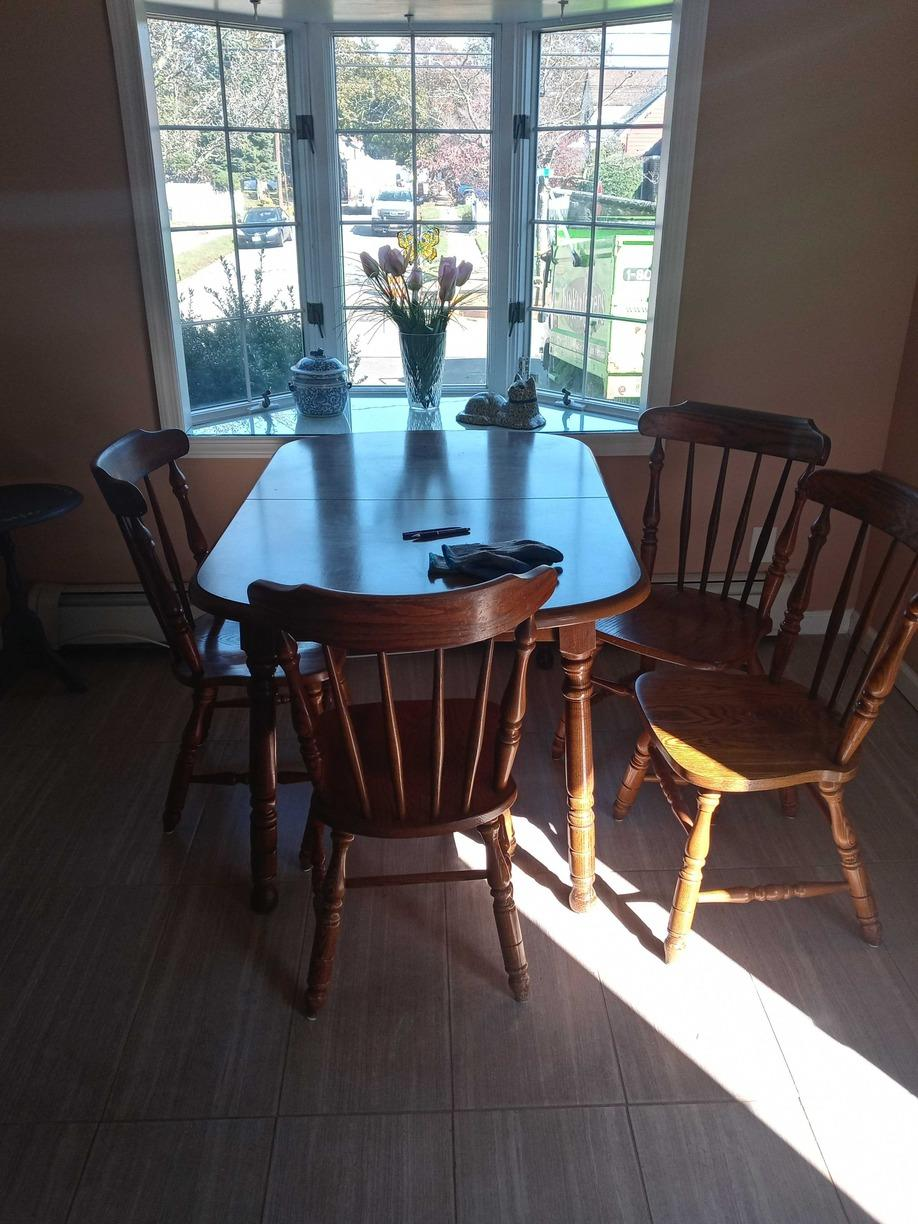 Dining Table Removal Service in Malverne, NY - Before Photo