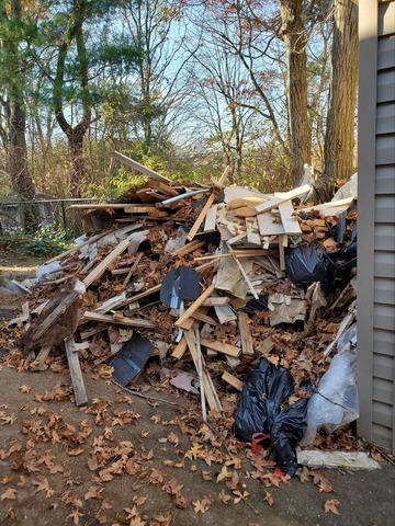 Yard Debris Removal in Bayville, NY - Before Photo