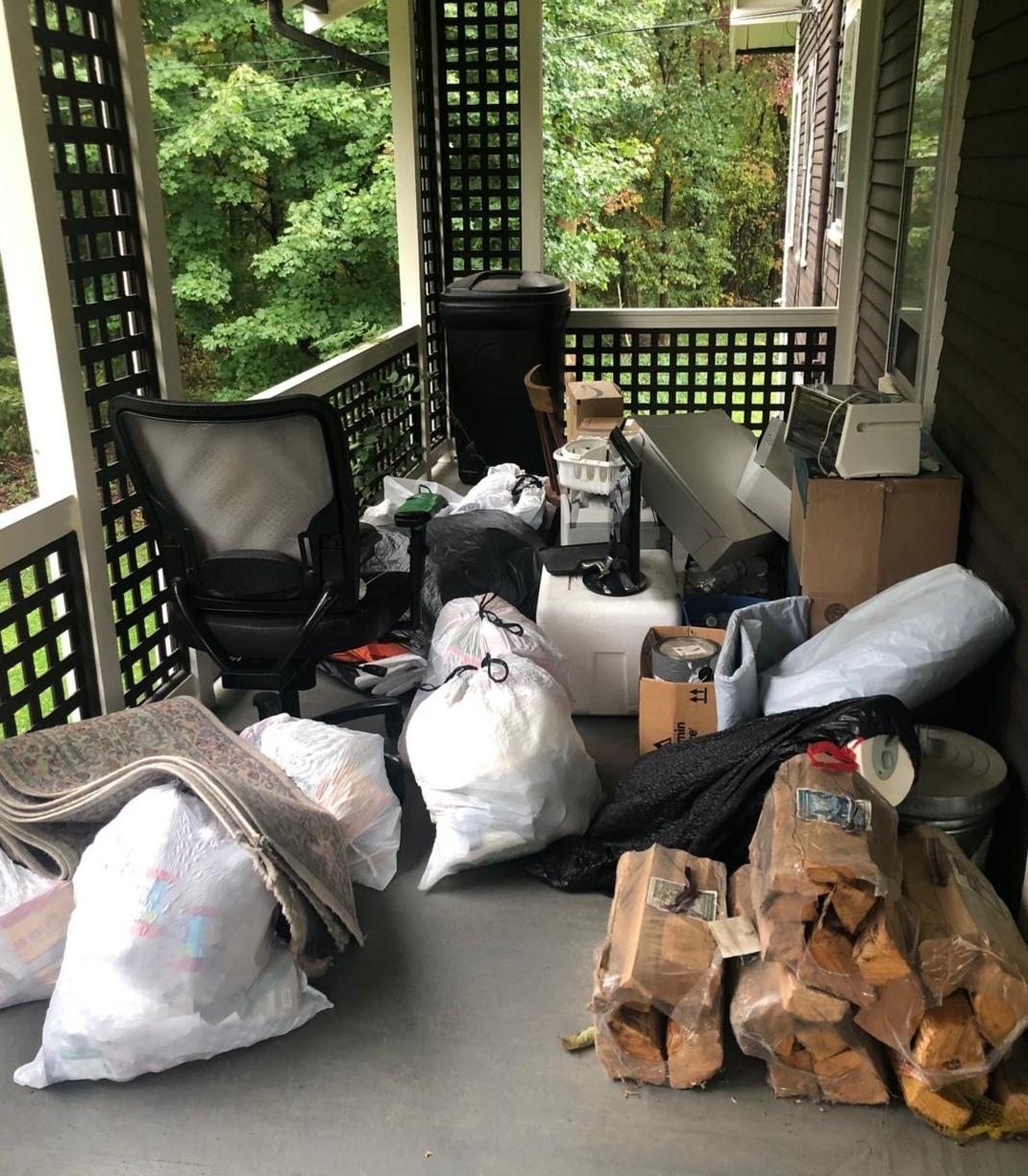 Decluttering pre-move in Dedham, MA - Before Photo