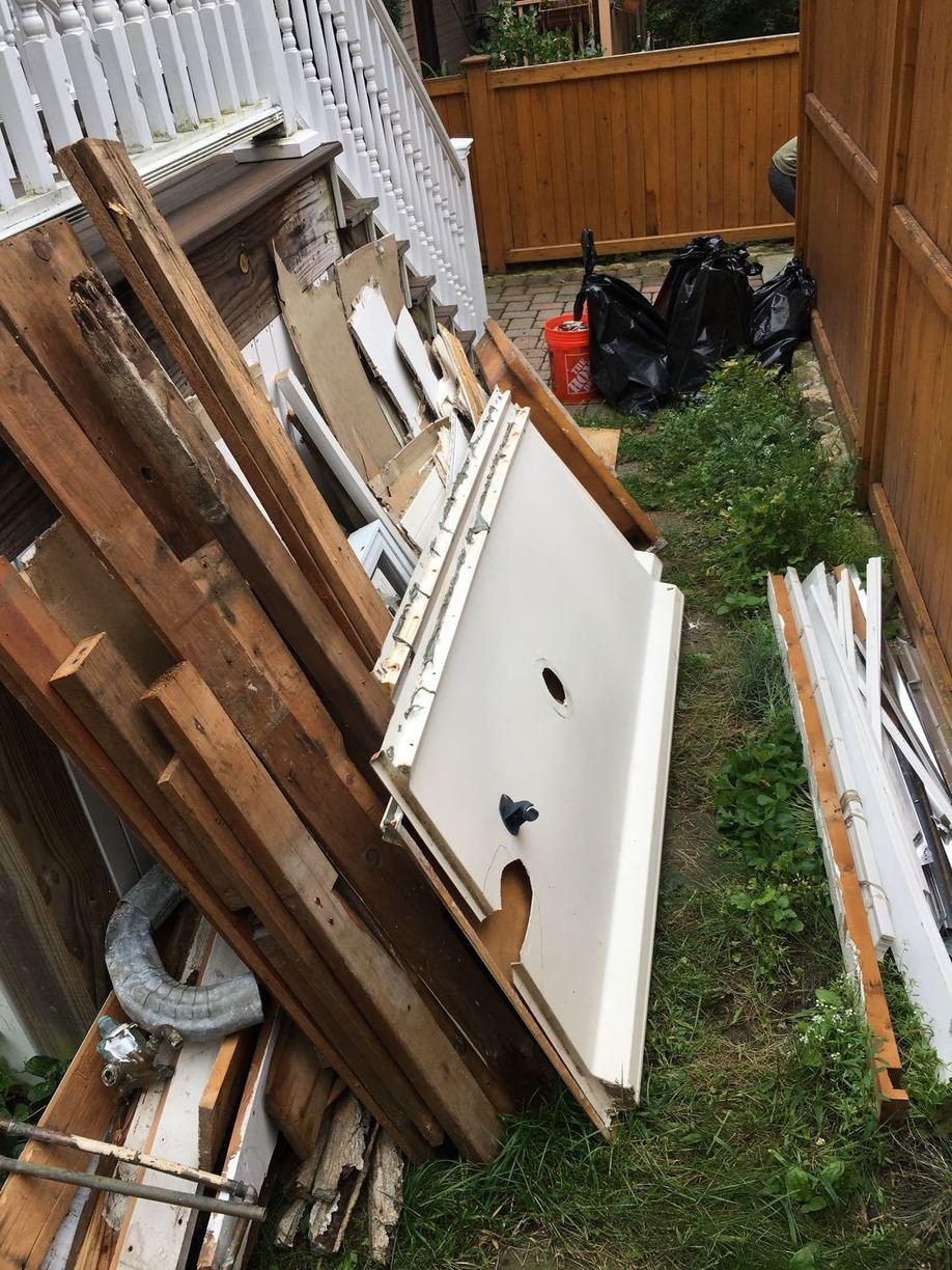 Renovation Cleanout Service in Somerville, MA - Before Photo