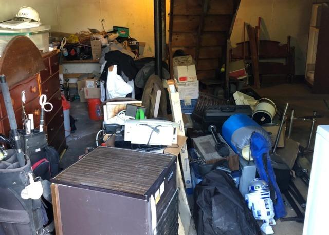 Basement cleanout in Randolph, MA