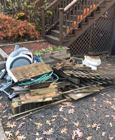 Debris / Junk removal from home in Boston, MA