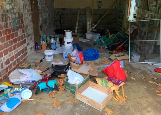 Garage cleanout in Waltham, MA