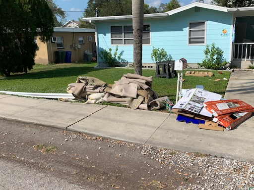 Curbside Carpet pickup in Dunedin, FL! - Before Photo