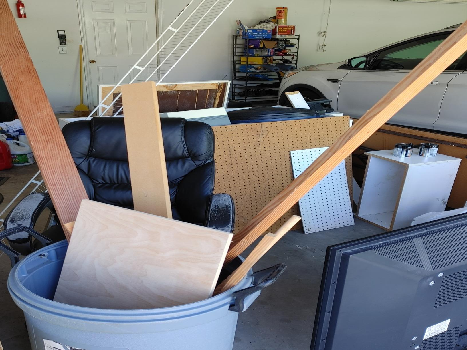Garage cleanup in Wesley Chapel, FL! - Before Photo