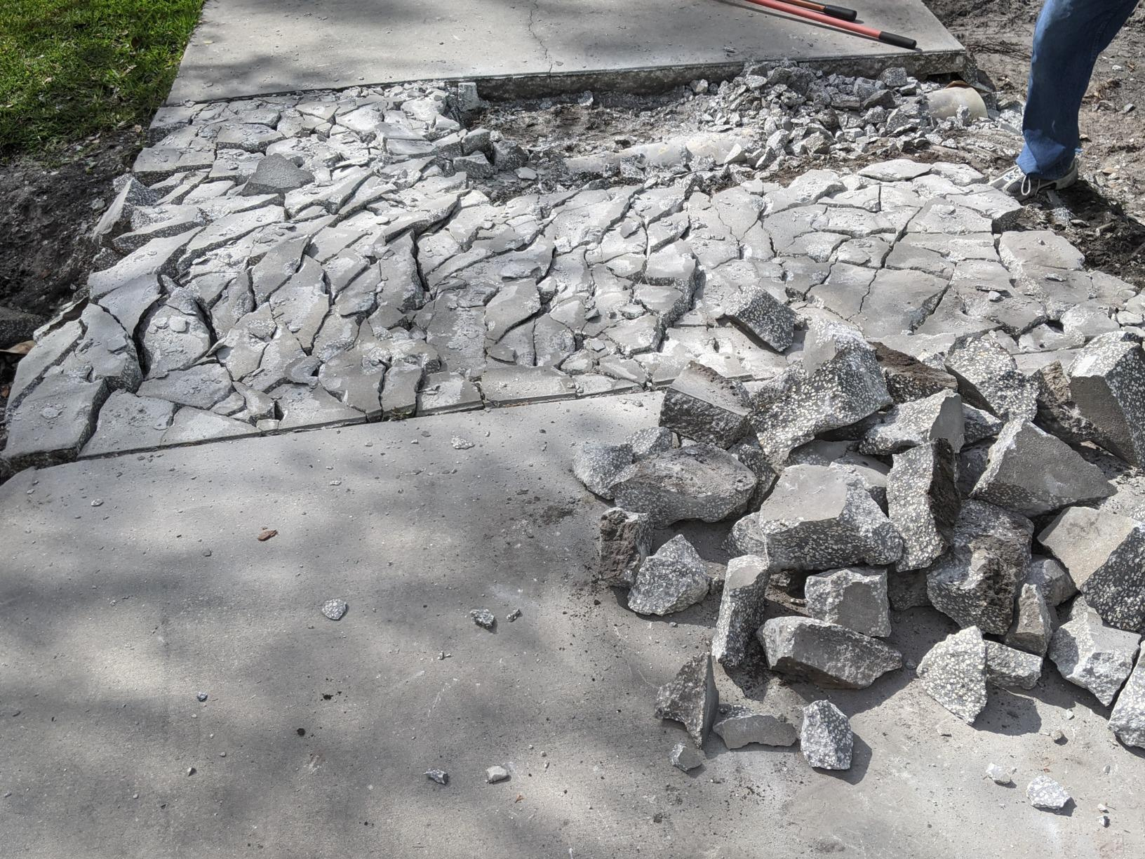 Concrete Removal in Wesley Chapel, FL! - Before Photo