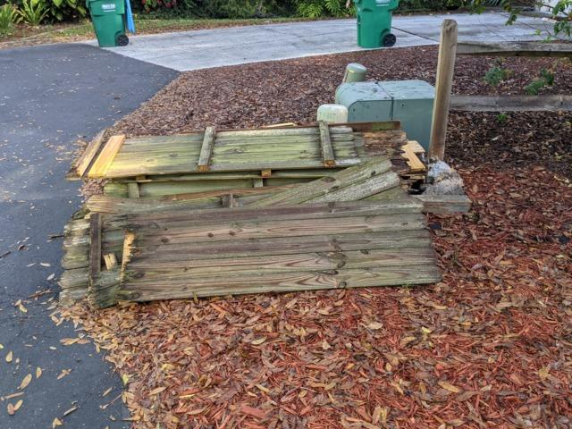 Old Fencing removal in Palm Harbor, FL!