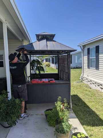 Gazebo Roof Removal in New Port Richey, FL!