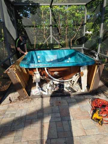 Spa Removal in New Port Richey, FL!