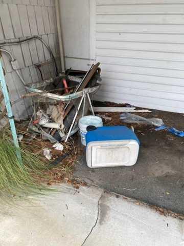 Back porch Cleanup in Tampa, FL!