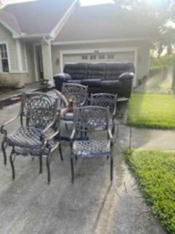 Curbside Patio Set Hauling in Land O Lakes, FL!