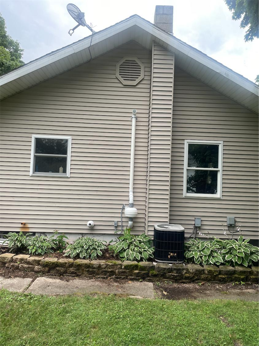 Exterior Eagle Extreme standard radon fan install Kingsbury, IN - After Photo
