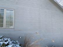 Exterior Radon Mitigation fan installation, LaPorte, IN - Before Photo