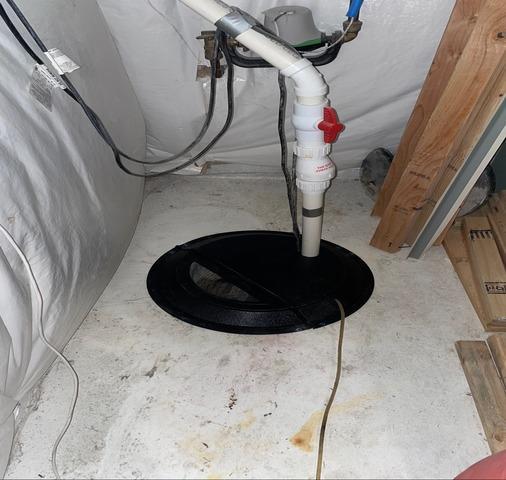 Radon Mitigation sump pit sealed