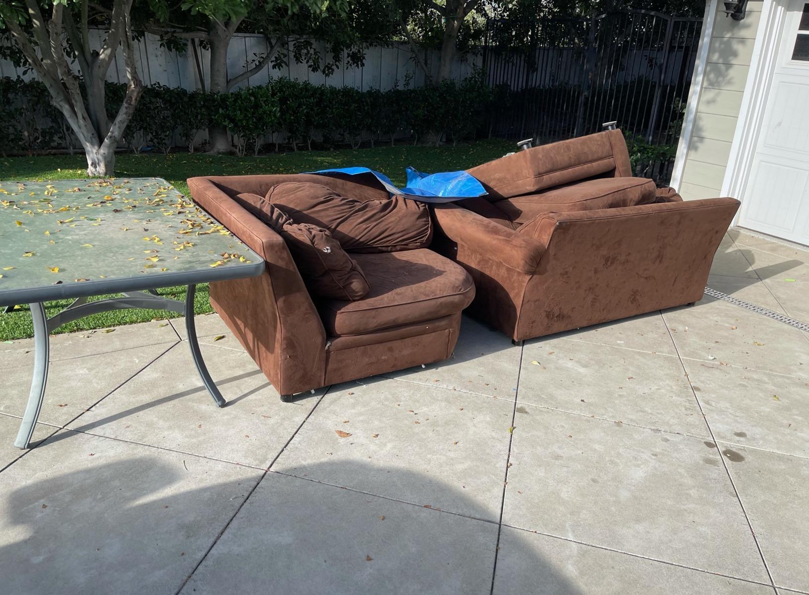 Furniture Removal in San Juan Capistrano, CA - Before Photo