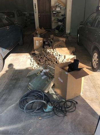 Garage cleanout in Laguna Beach, CA