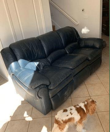 Sofa Removal in Yorba Linda, CA - Before Photo