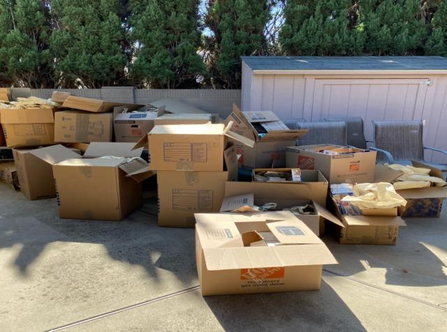 Patio Furniture and Box Breakdown in Villa Park, CA