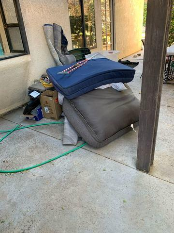 Outdoor Junk Removal in Yorba Linda, CA - Before Photo