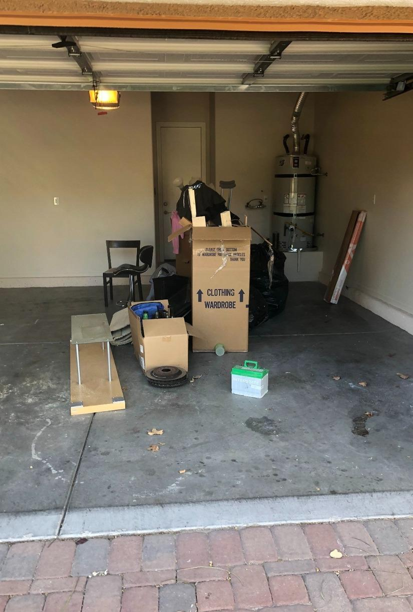 Garage Cleanout in Las Vegas, NV - Before Photo