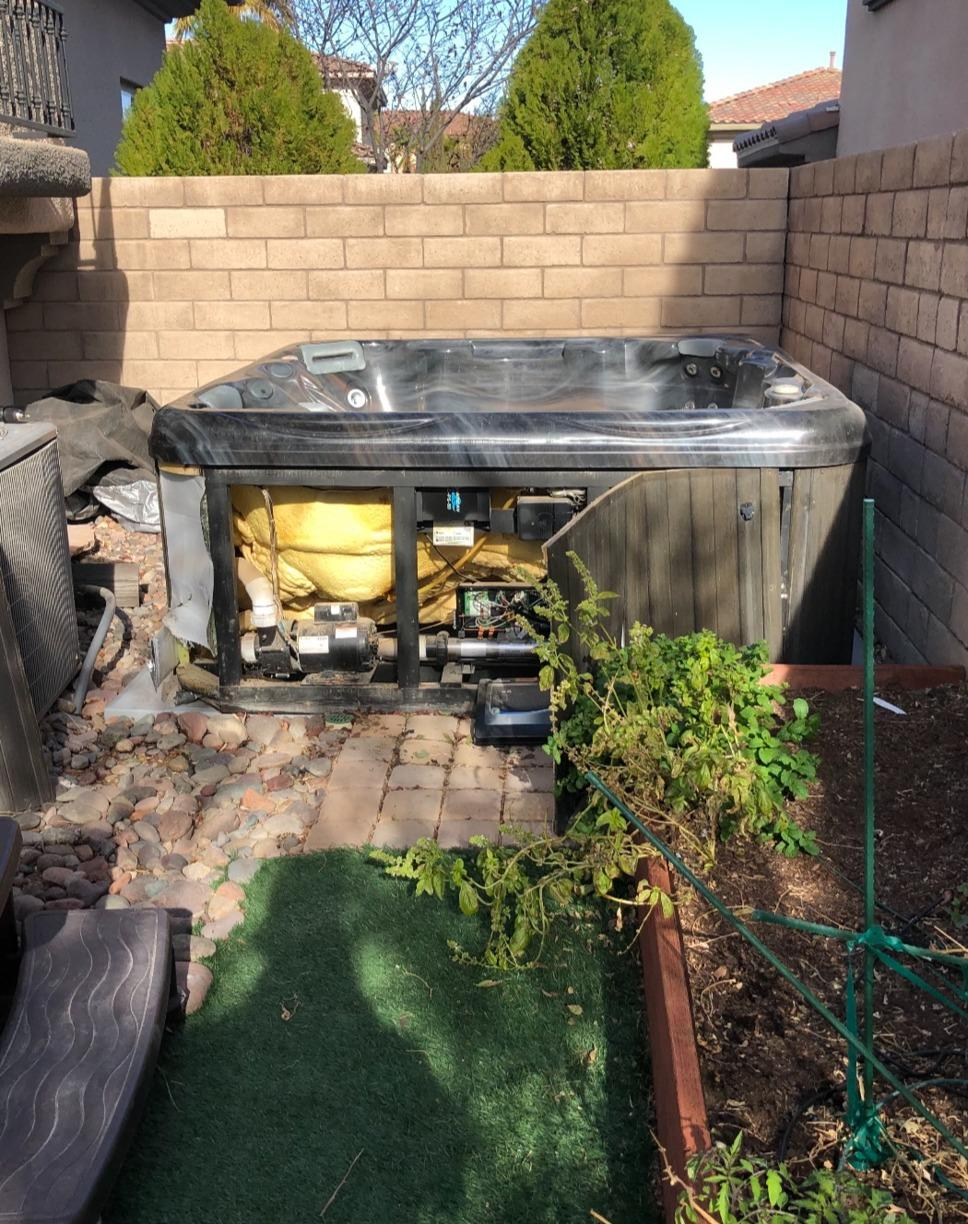 Hot Tub Removal in Las Vegas, NV - Before Photo