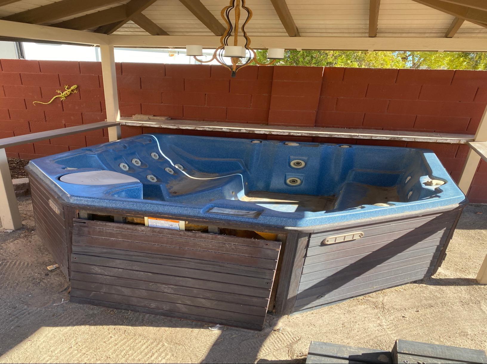 Hot tub removal North Las Vegas - Before Photo