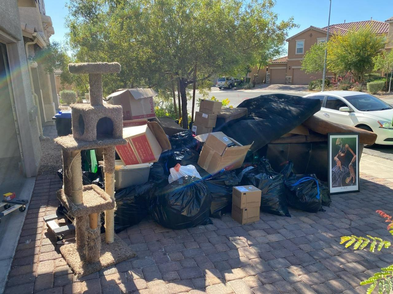 Curbside Cleanup in Henderson, NV - Before Photo