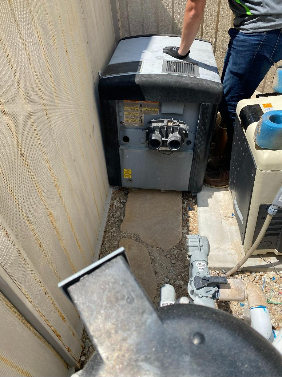 Pool Heater Removal in North Las Vegas - Before Photo