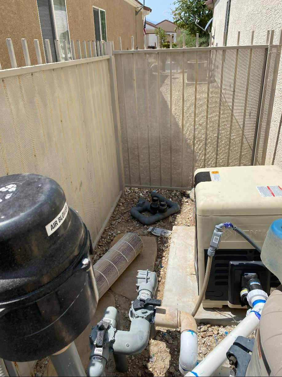 Pool Heater Removal in North Las Vegas - After Photo