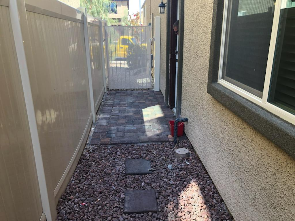 Side Yard Cleaning in North Las Vegas - After Photo