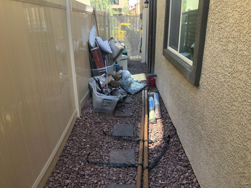 Side Yard Cleaning in North Las Vegas - Before Photo