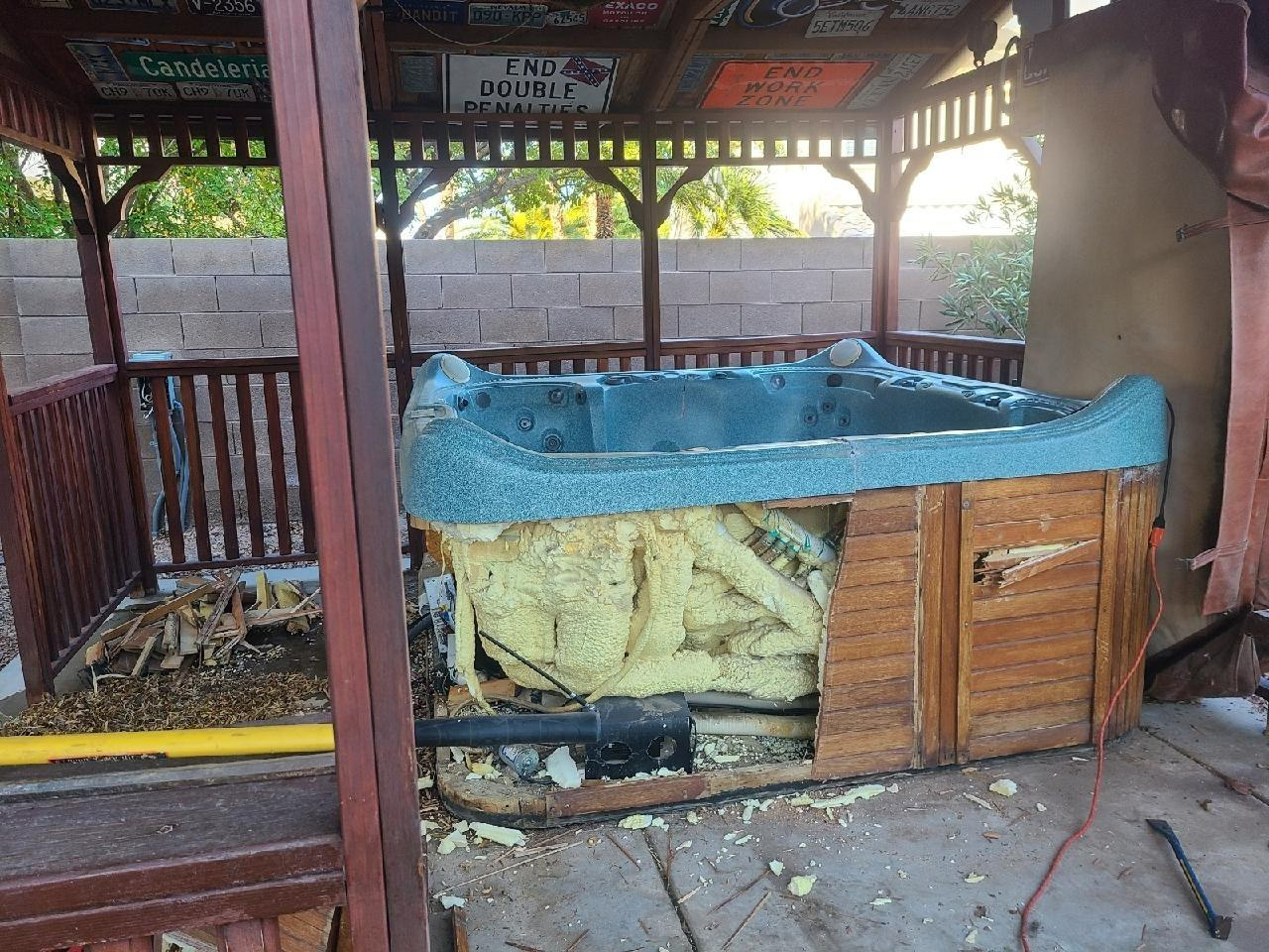 Hot Tub Removal in Henderson, NV - Before Photo