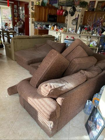 Couch Removal in North Las Vegas - Before Photo