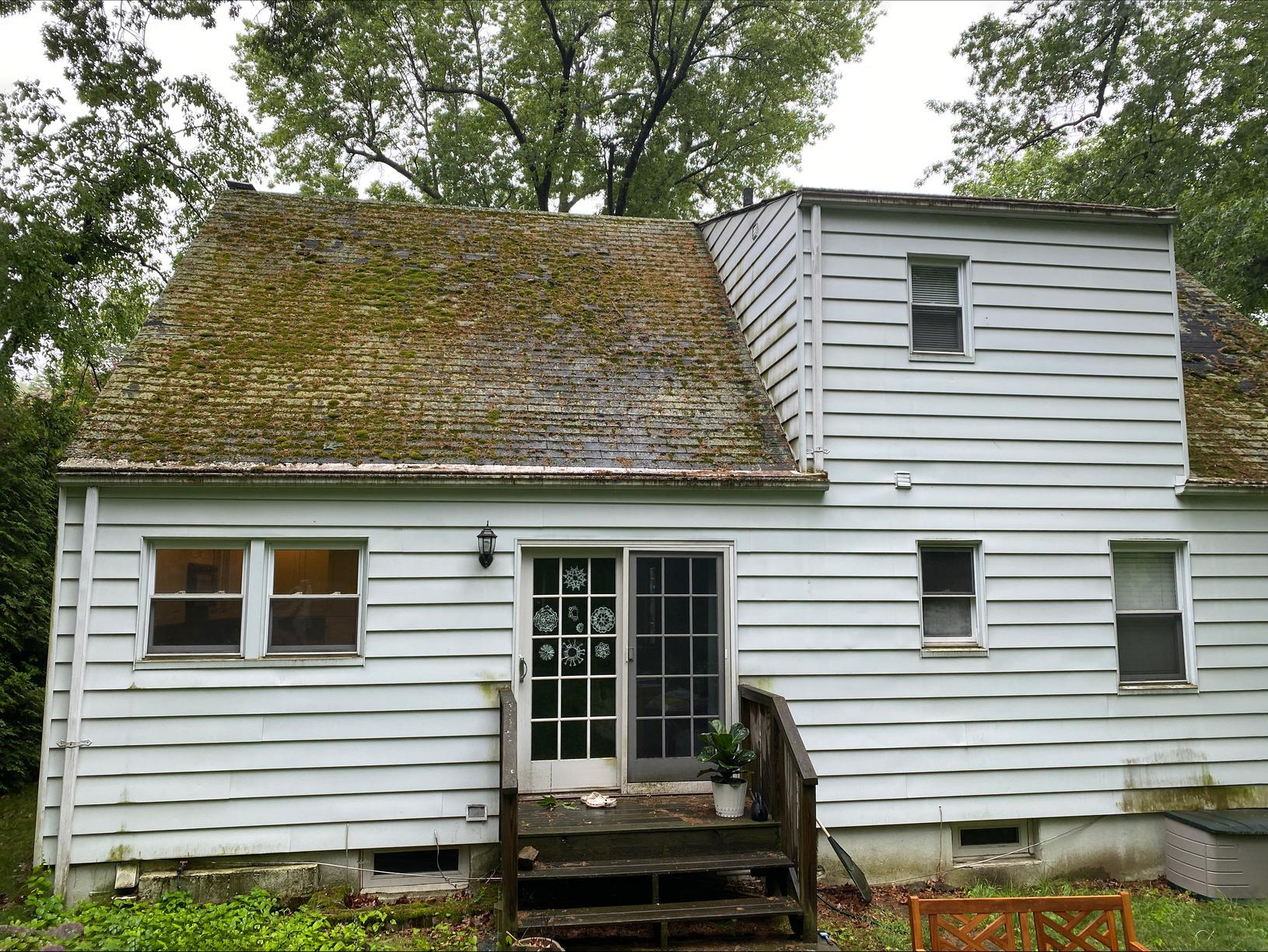 Mossy Roof Transformation in Tarrytown, NY - Before Photo