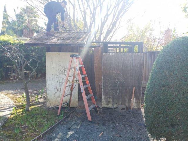 Shed removal in San Jose - Before Photo