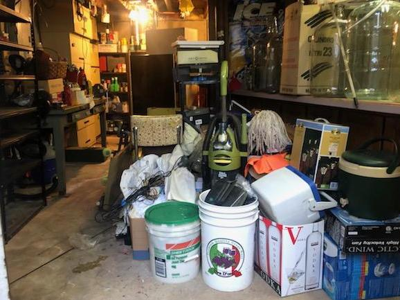 Basement Cleanout in Plantsville, CT - Before Photo