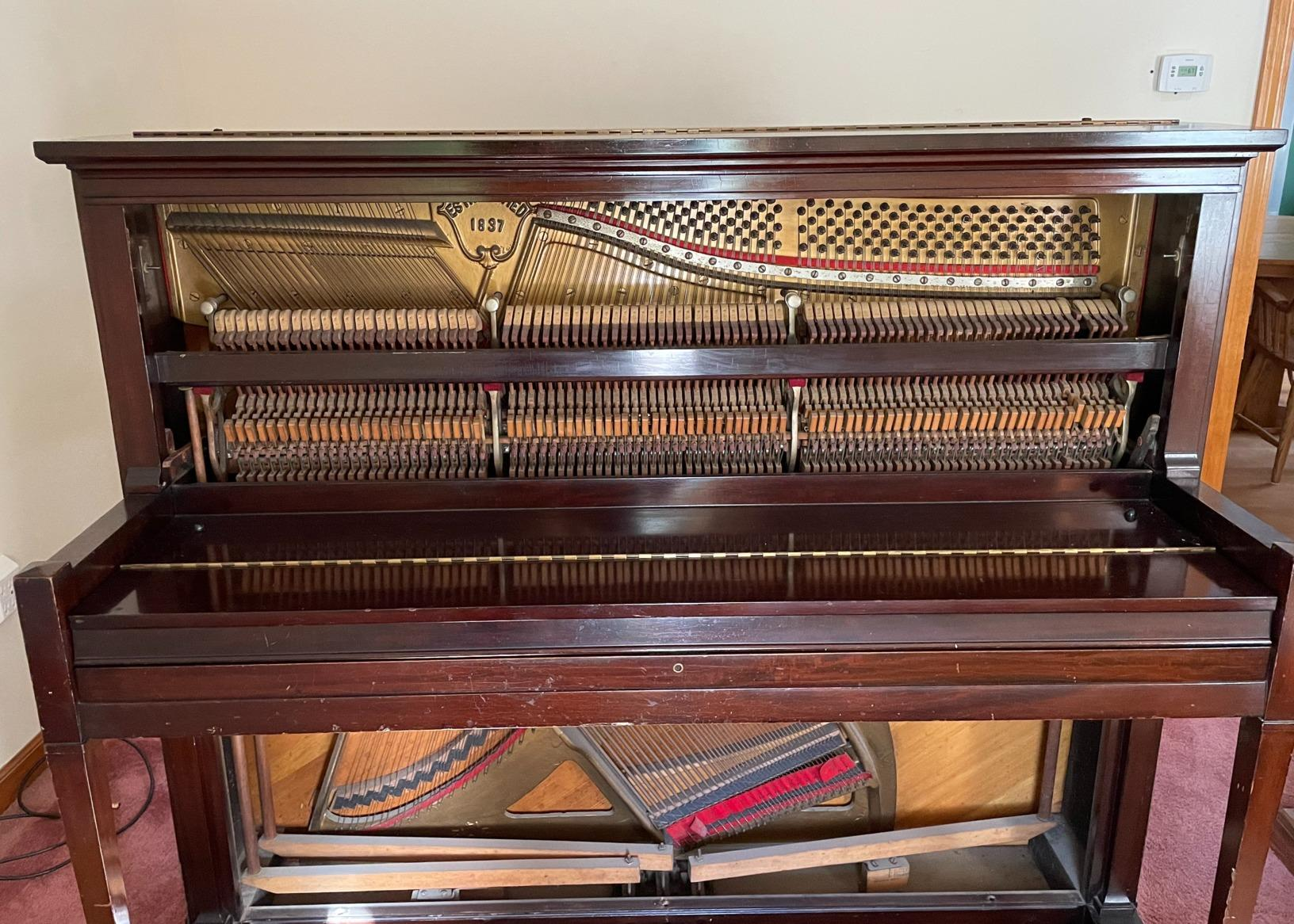 Piano Removal in East Hampton, CT - Before Photo