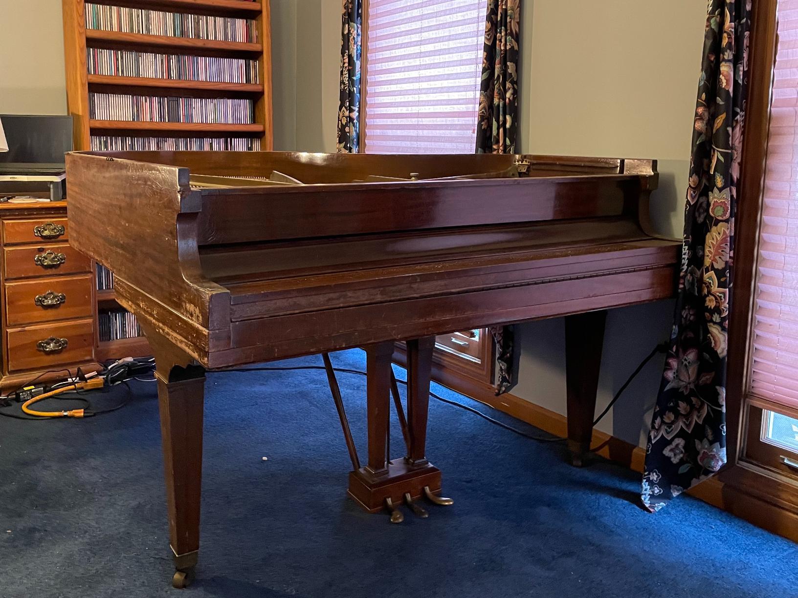 Baby Grand Piano Removal in Farmington, CT - Before Photo