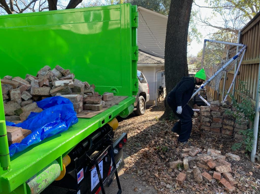 Bricks removed from yard in Dallas, TX - Before Photo