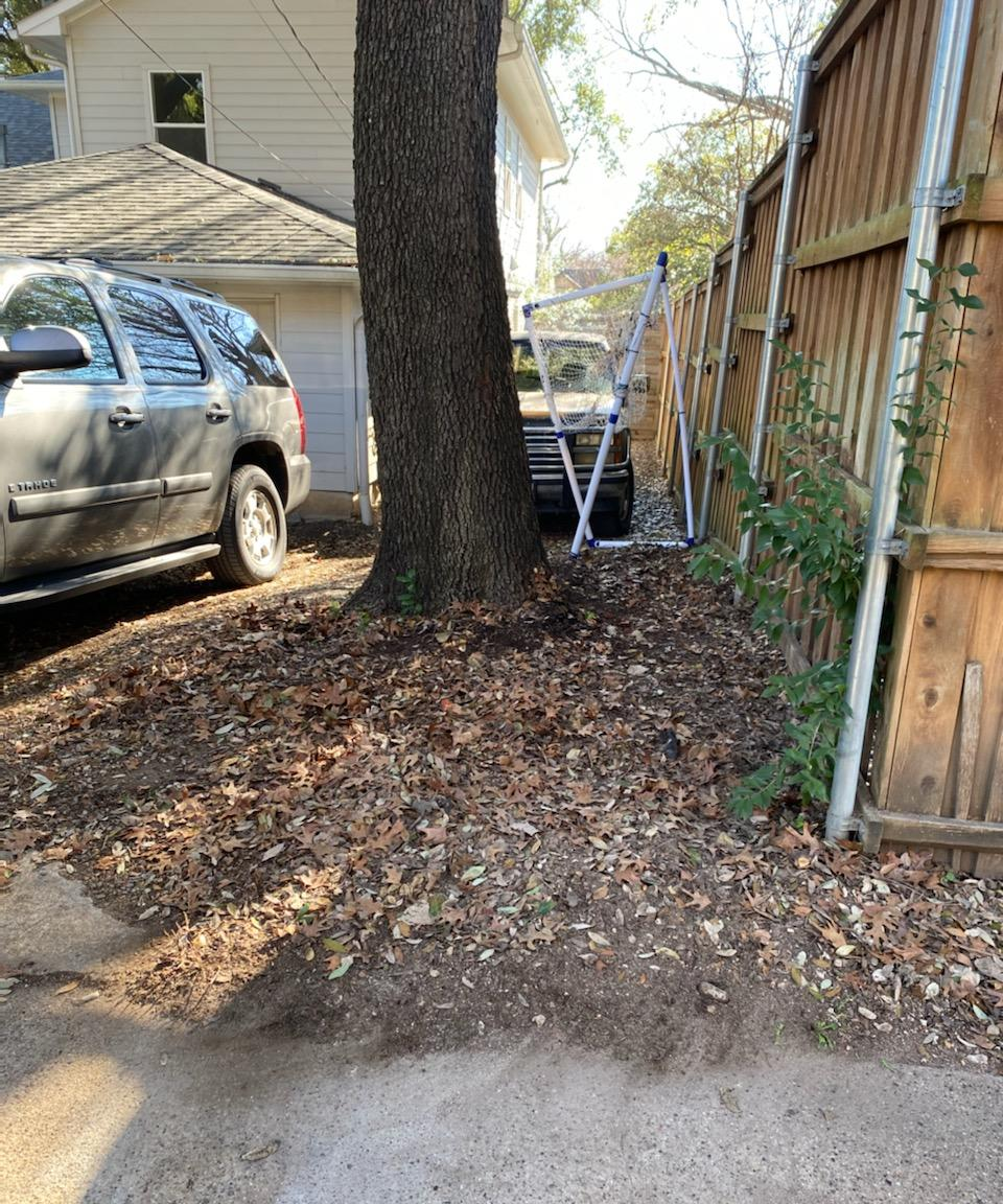 Bricks removed from yard in Dallas, TX - After Photo