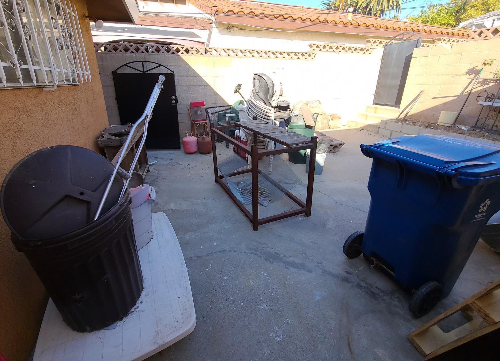 Backyard Junk Removal Los Angeles, CA - Before Photo