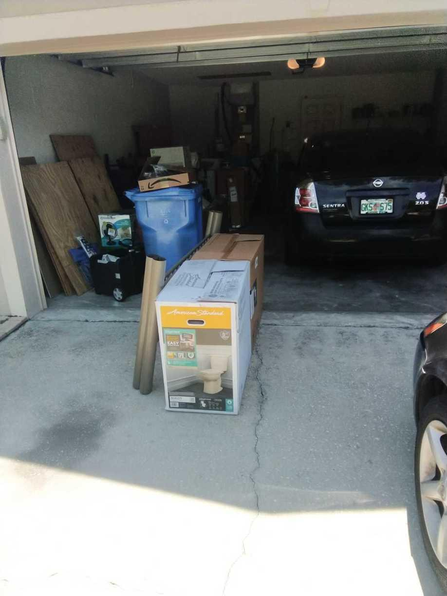 Garage Cleanout in Seffner, FL - Before Photo