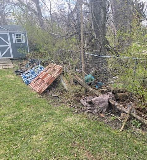 Yard cleanout at Waukegan, IL - Before Photo