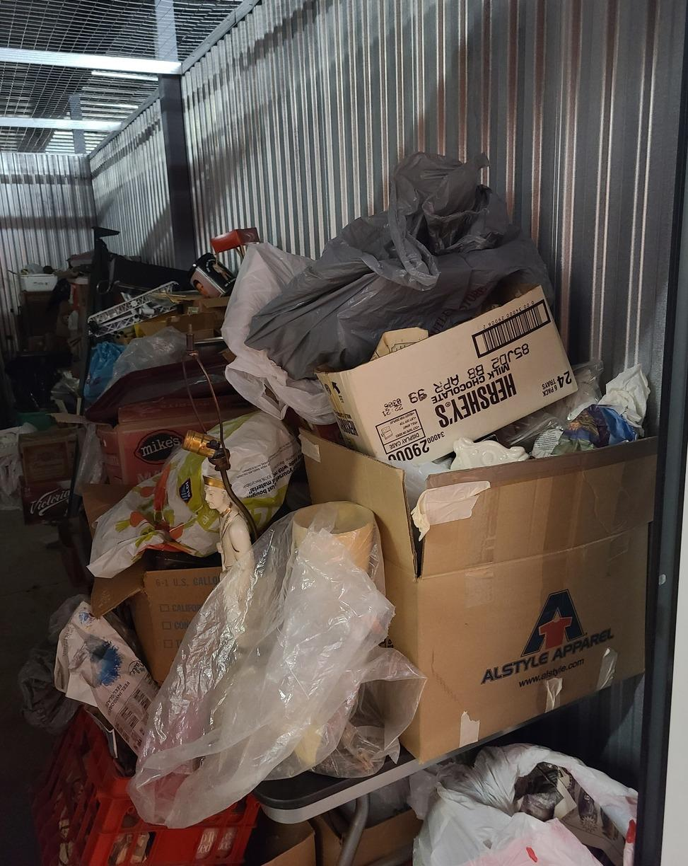 Storage Unit Cleanout in Waukegan, IL - Before Photo