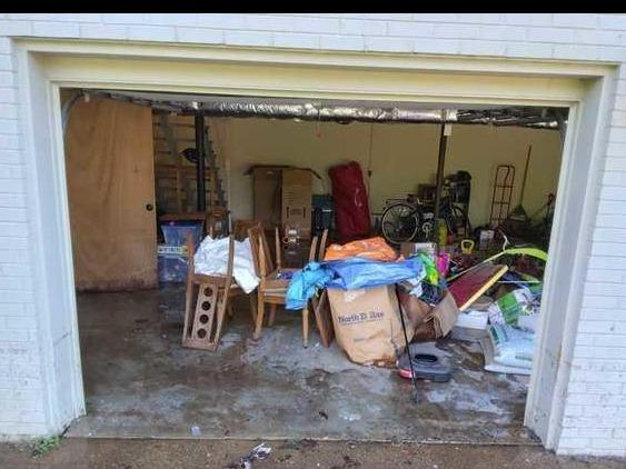 Storm and Disaster Cleanup Services in Brentwood, TN - Before Photo