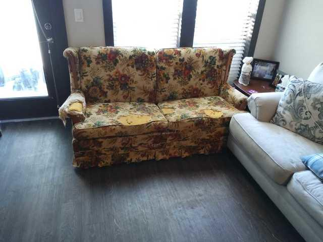 Sleeper sofa removal from The Residence at Capitol View, in Nashville, TN