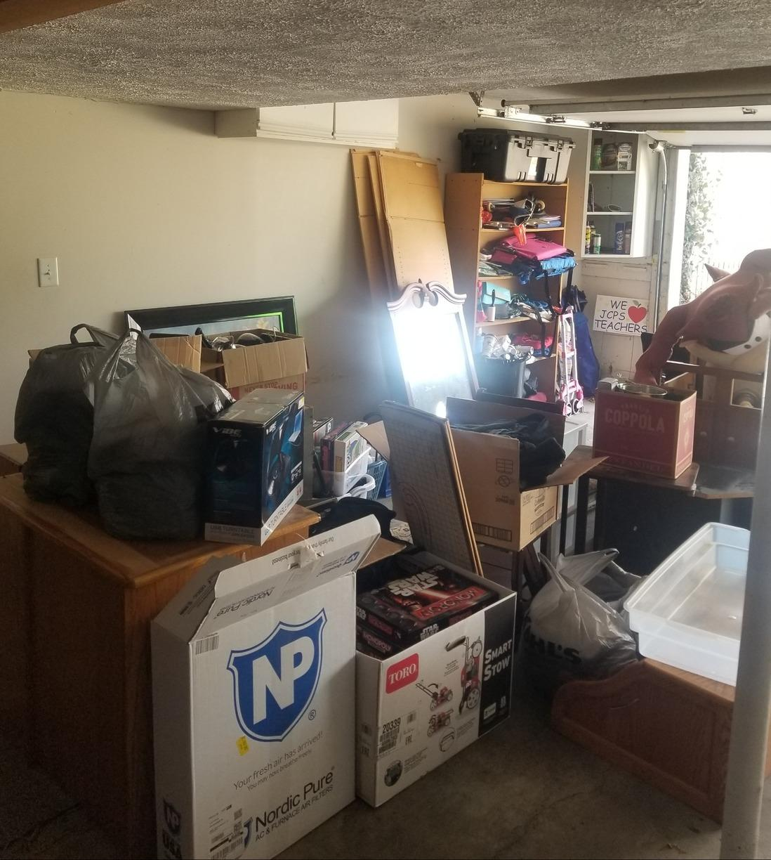 Garage Clear Out in Louisville, Kentucky - Before Photo