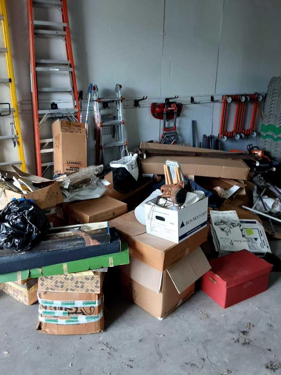 Garage Cleanout in Houston, TX - Before Photo