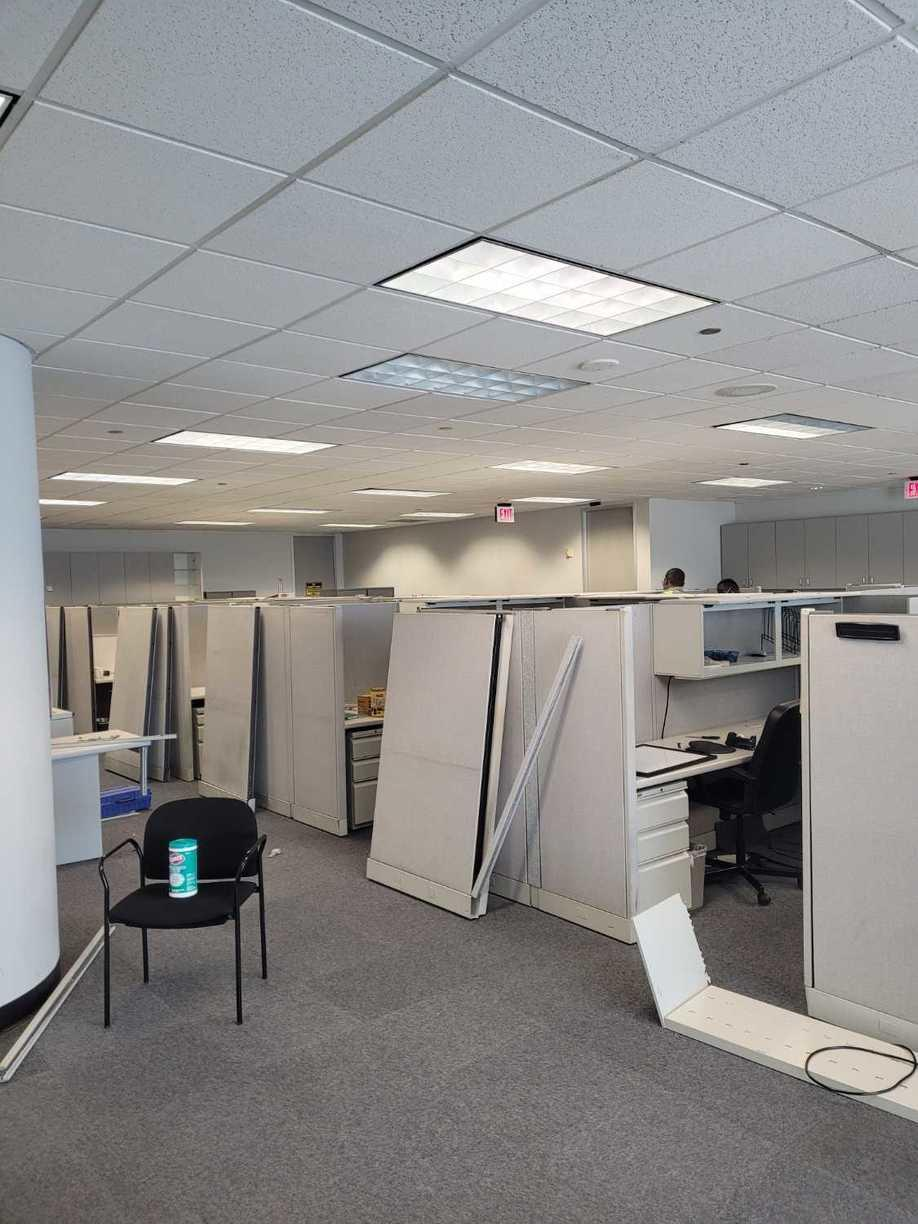 Houston, TX, Office Cleanouts services - Before Photo