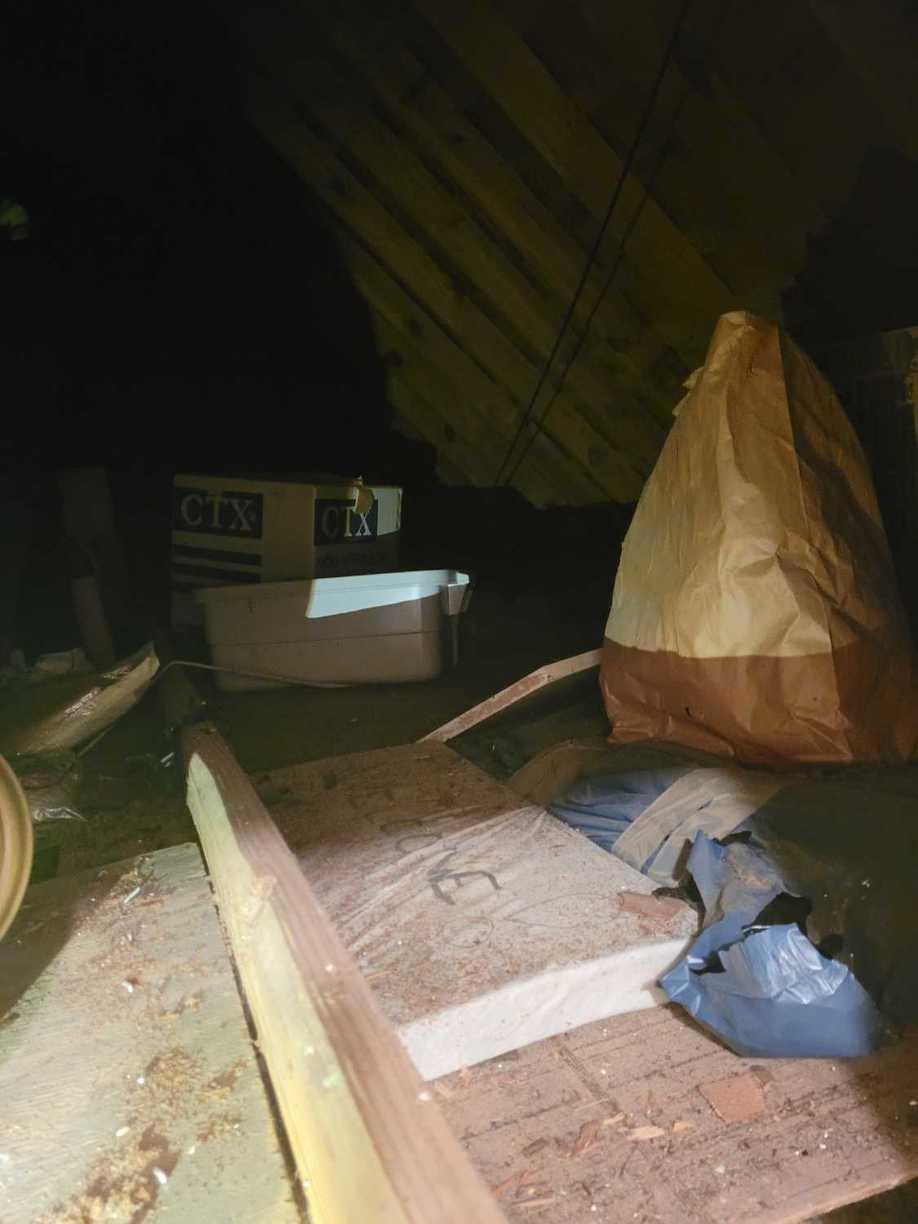 Attic Cleanout services in Sugar Land, TX - Before Photo